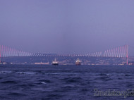 Barcos en Puente del Bósforo