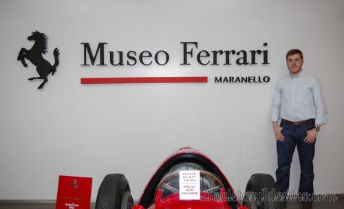 Alfonso Eguino en el Museo Ferrari Maranello