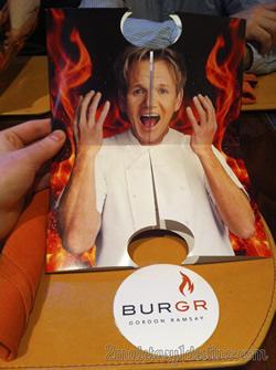 Carta de la hamburguesería Gordon Ramsey BurGR