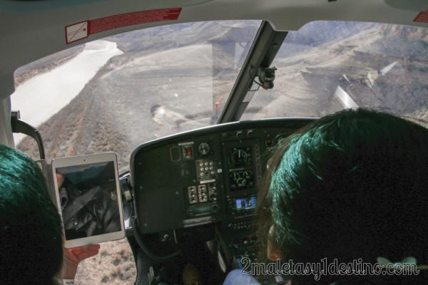 Volando en helicoptero