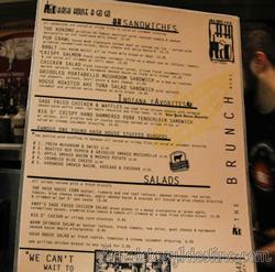 Carta menú Hash House a Go Go