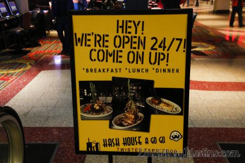 Cartel Hash House a Go Go abierto 24/7/365