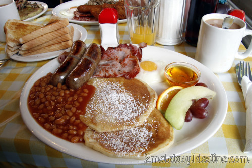 Londres - English breakfast con tortitas