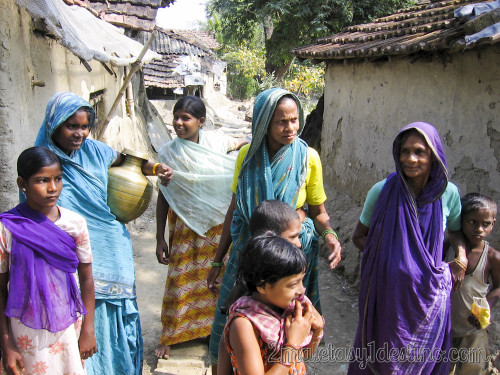 Mujeres inidias con sari