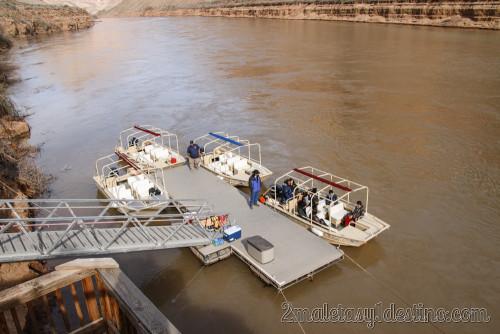 Botes en el Río Colorado