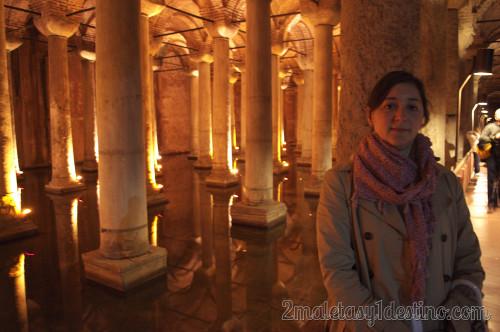 Cisternas bajo la Basílica de Estambul
