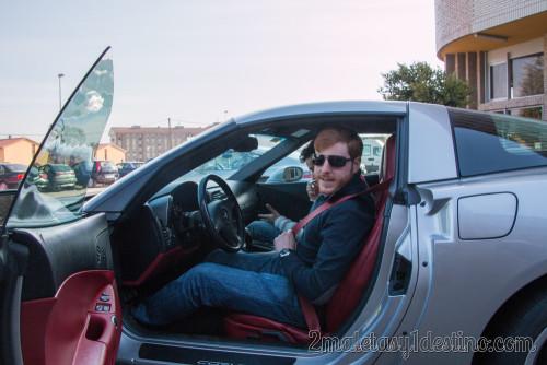 Alfonso Eguino en el Chevrolet Corvette C6 1