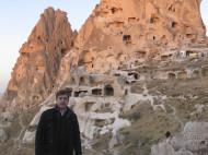 Eguino en la Fortaleza de Uçhisar - Capadocia