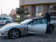 Alfonso Eguino entrando en Chevrolet Corvette C6