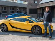 Eguino con el Lamborghini Gallardo