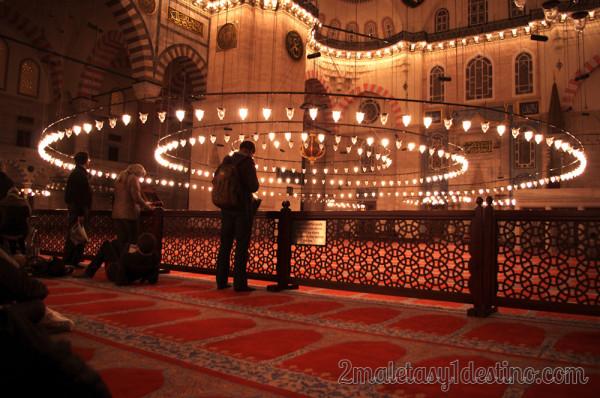 Interior Mezquita de Suleiman