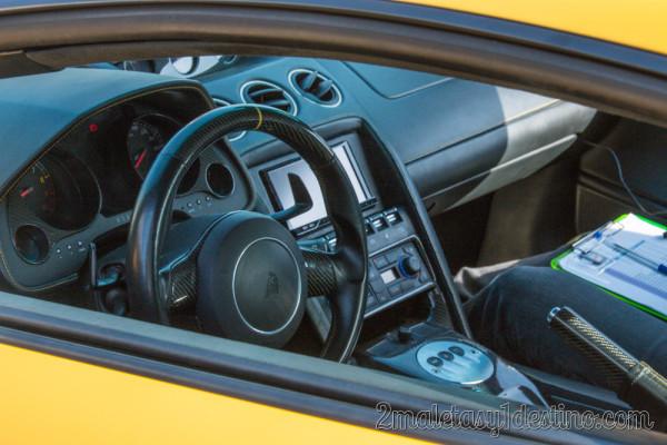 Interior del Lamborghini Gallardo