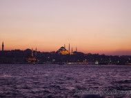 Mezquita de Suleiman al atardecer
