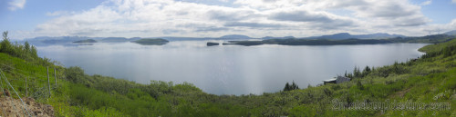 Vista panorámica Lago Þingvallavatn