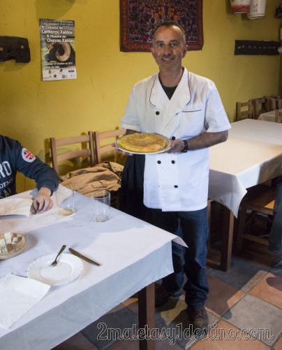 Pepín con la tortilla