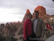 Vanina y Eguino en la Fortaleza de Uçhisar - Capadocia