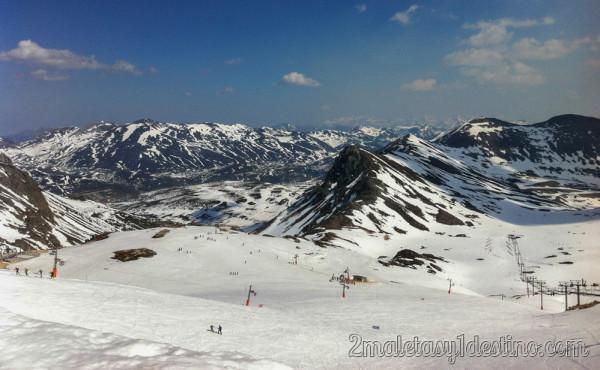 Vistas cima Estación Esquí San Isidro