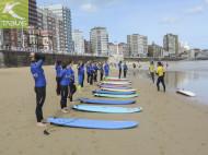 Calentamiento playa surf