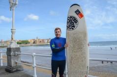 Eguino bautismo surf playa San Lorenzo, Gijón
