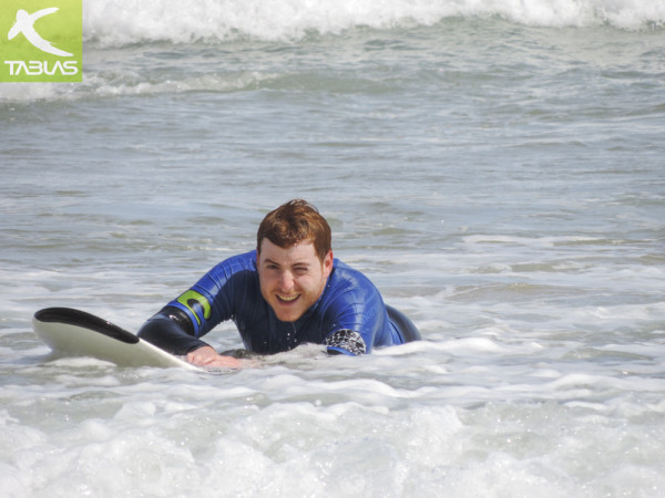 Eguino en el bautismo surf TBMGijón