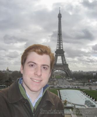 Eguino en la Torre Eiffel