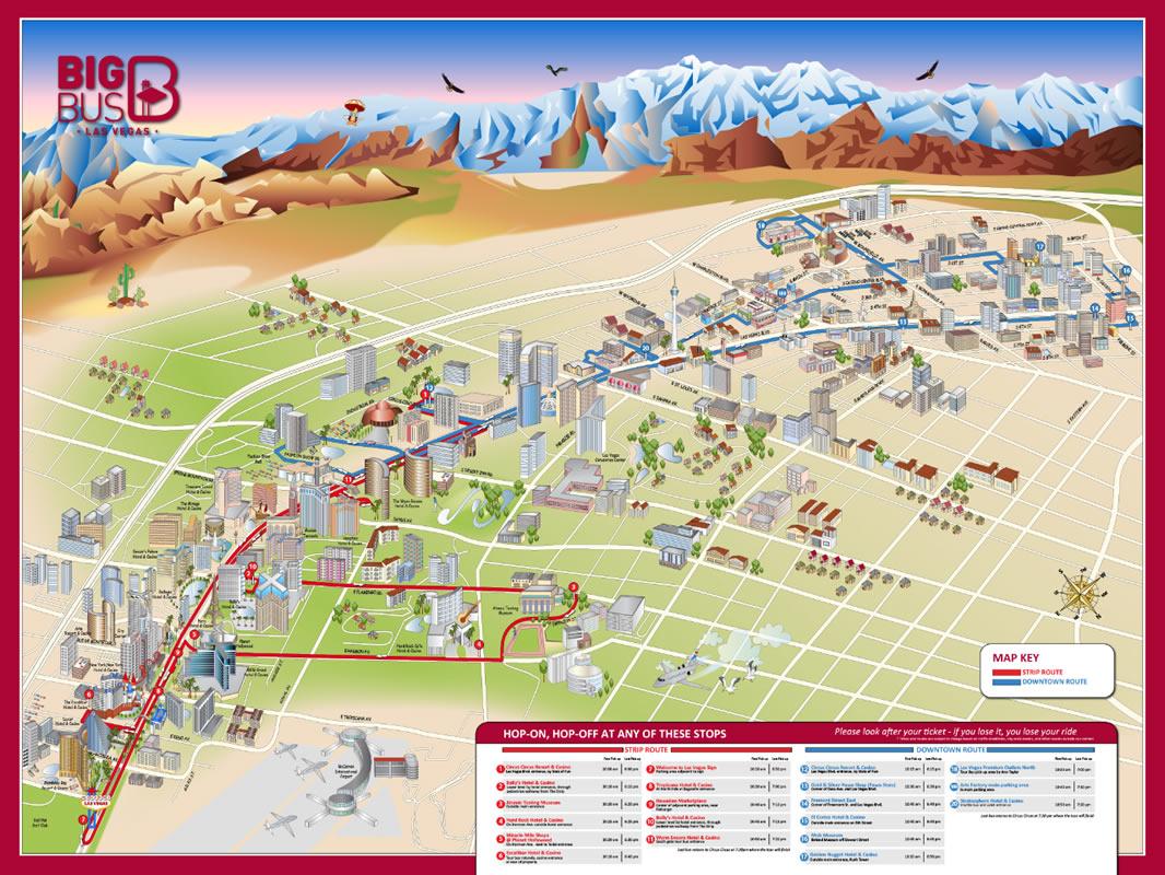 Autobs turstico en Las Vegas ruta panormica y experiencia