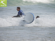 Revolcón olas surf
