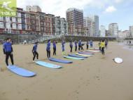 Teoría surf en la playa