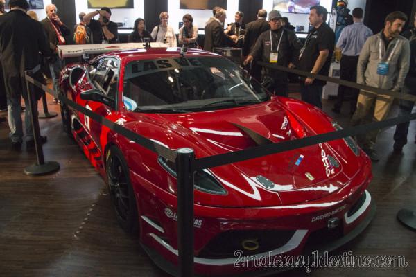 Ferrari 360 Modena GoPro booth CES Las Vegas