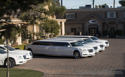 Limusinas Chrysler 300 en las capillas de Las Vegas