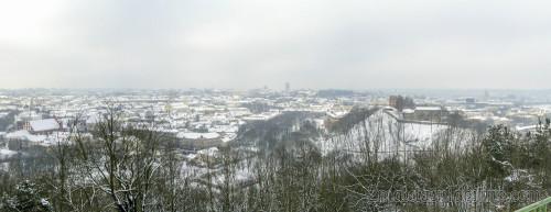 Panorámica de Vilnius desde Colina de las Tres Cruces
