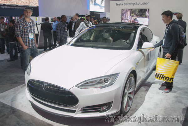 Tesla Model S CES Las Vegas 2014