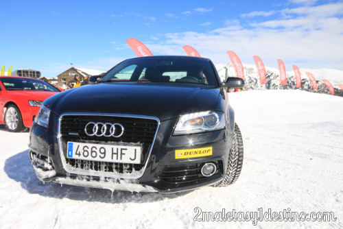 Audi con ruedas Dunlop