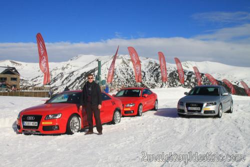 Eguino en Audi Driving Experience Winter