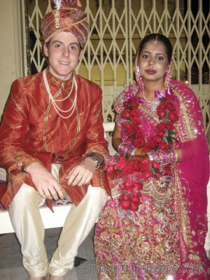 Alfonso Eguino con la novia