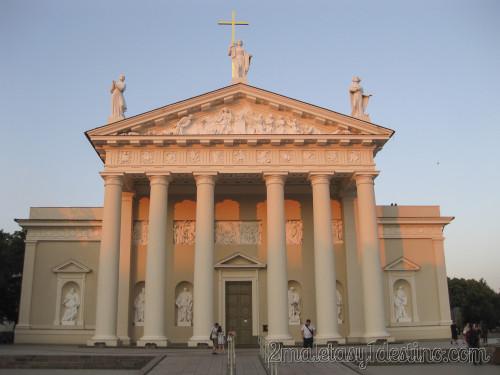Atardecer en la Catedral de Vilnius