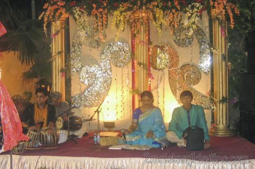 Músicos en la boda india