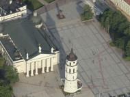 Plaza de la Catedral desde el aire