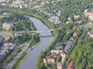 Puente Vilnius rio Neris