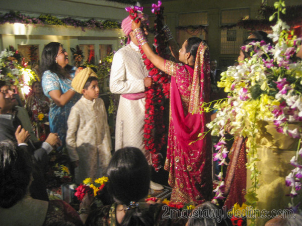 Ritual de las floras en la boda india