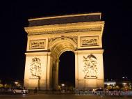 Arco del Triunfo iluminado