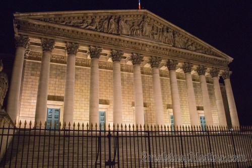 Asamblea Nacional iluminada