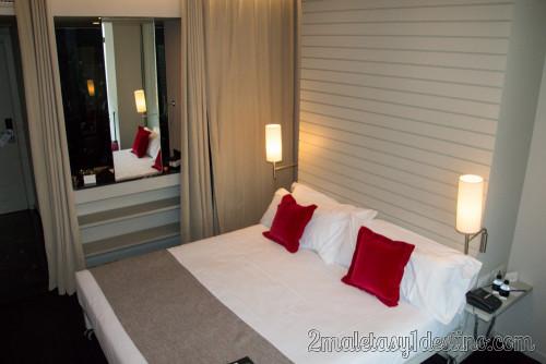 Miró Hotel Bilbao - habitación y entrada