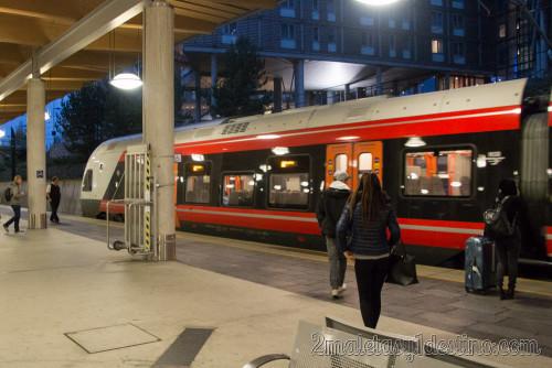 Tren NSB en el Aeropuerto de Oslo