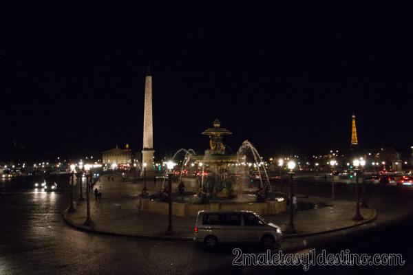 Plaza de la Concordia de noche