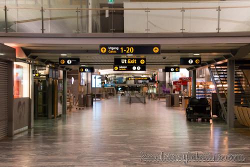 Aeropuerto de Oslo vacío
