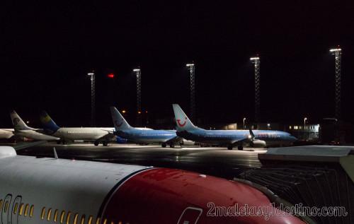 Aviones en el Aeropuerto de Oslo