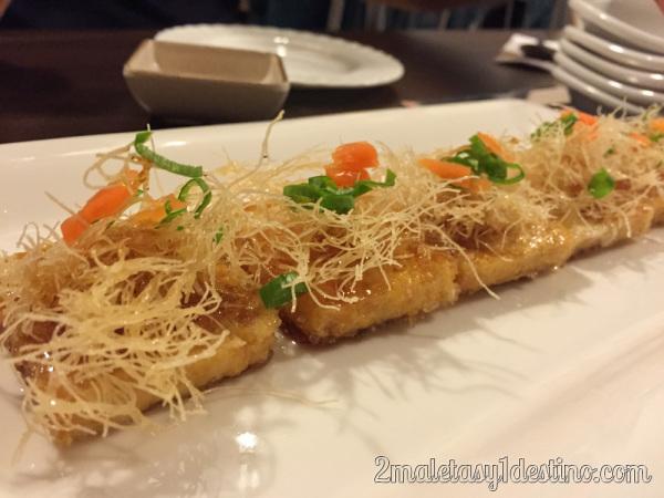 Mini canapés de Tofu