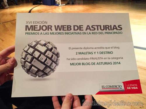 Certificado finalista mejor blog