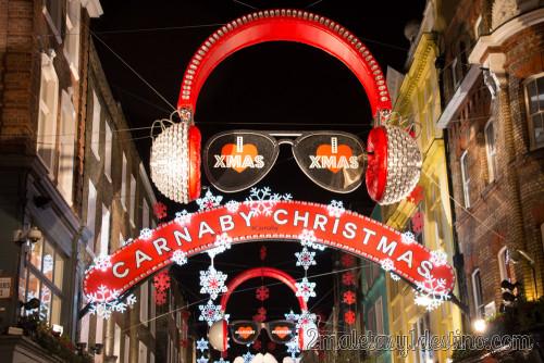 Luces navidad en Carnaby Street